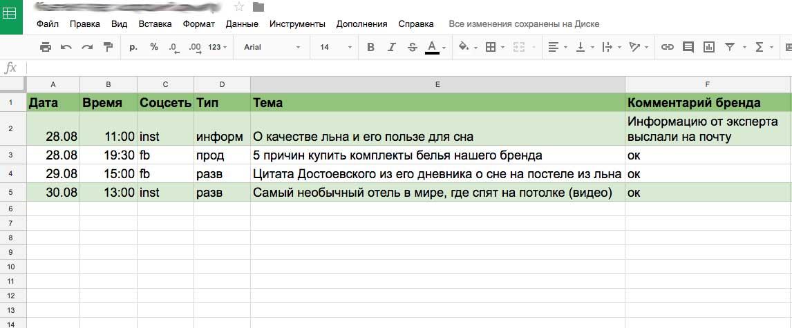 Как составить контент-план для соцсетей